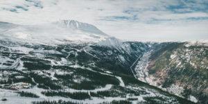 TBU Rjukan - utsikt fra Gaustablikk over Rjukan sentrum